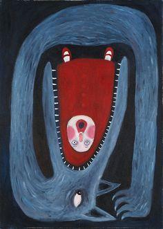 Roodkapje & de boze wolf #illustratie
