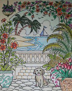 ColorIt Blissful Scenes Colorist: Michelle Byrne #adultcoloringbooks #coloringbooksforadults