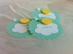 You Are My Sunshine Cloud 3D Sun Sunny Day Birthday Baby Shower Gift Tags / Favor Tags / Treat Bags on Etsy, $6.50