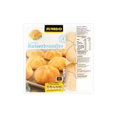 Jumbo Voorgebakken Kaiserbroodjes 4 x 50g - Kaiserbroodjes, bollen (Bevat tarwe)