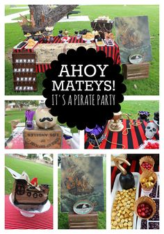 Shiver Me Timbers, A Pirate Birthday Party with details that will throw you overboard!