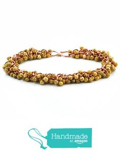 Shaggy Yellow Picasso and Copper Bracelet from UnkamenGifts