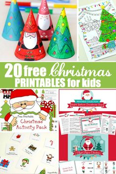 Try out these 20 free Christmas printables for kids to get them into the spirit of the season. They include games, colouring pages, decorations and more!