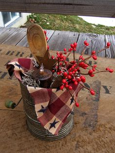 Country Kitchen Sifter Centerpiece by BishopsHollow on Etsy, $17.00