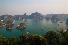 ღღ Halong Bay, Vietnam ~~~ View from Ti Top island