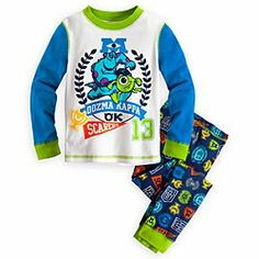 Disney Monsters University PJ Pal for Boys | Disney StoreMonsters University PJ Pal for Boys - Your junior grad can enjoy some shut eye in the company of Mike Wazowski and his frat pal Sulley. The two members of Oozma Kappa scare up this all-cotton Monsters University PJ Pal that will be more than OK at sleeptime.