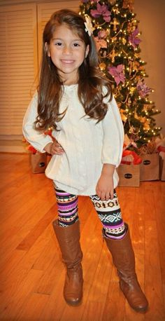 Printed leggings for little girls!