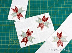 Make the Star-Studded block in the FQS Deck-ade the Halls Quilt Along!