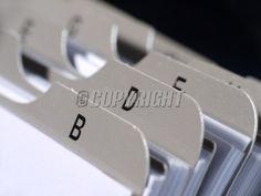 Closeup of revolving name card holder bookmarks