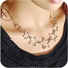 Promotion! Wholesale!  Fashion lady women jewelry accessory all-match elegant sweet five-stars alloy necklace SN332 - http://www.aliexpress.com/item/Promotion-Wholesale-Fashion-lady-women-jewelry-accessory-all-match-elegant-sweet-five-stars-alloy-necklace-SN332/1023773562.html