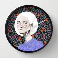 Wall Clocks featuring LISA by Sofia Bonati