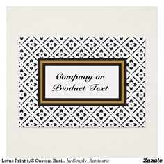 Lotus Print 1/S Custom Business/product card