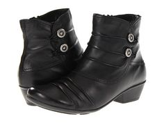 Rieker D7373 Milla 73 Black Leather - Zappos.com Free Shipping BOTH Ways