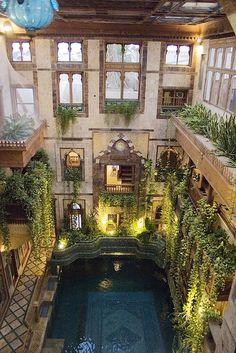 pool in Sami Angawi house in Jeddah Saudi Arabia