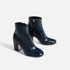 LEATHER HIGH HEEL ANKLE BOOTS-SHOES-WOMAN-COLLECTION SS/17 | ZARA United States