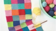 Entrelac Blanket Free Crochet Pattern