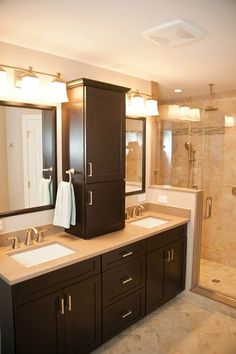 Colonial Home's Modern Master Bath Renovation