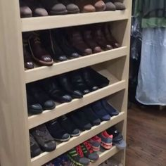 This closet space is so sleek and has plenty of room to make everything so easy to see  Click on the picture to see video of this project.  .  .  .  .  .  .  .  #customcloset #closet #closetdesign #closetisland #closetstorage #closetinspo #cabinetshop #cabinetmaker #cabinetry #shoescabinet #shoestorage #cabinets #customcabinets #customcabinetry #nyc #nycinteriordesigner #nycdesigner #NYWOODWORK #nywoodwork #closet #luxuryhome #luxuryinterior #longisland