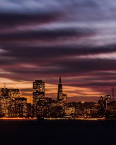 San Francisco Skyline at night by @independentcbh by San Francisco Feelings