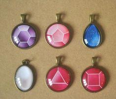Steven Universe: Crystal Gem necklaces