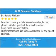 I use this company to build several websites, I'm very pleased with the quality of the...
