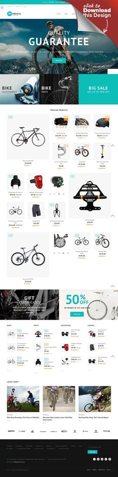 Impresta - Bike Store PrestaShop Theme E-commerce Templates, PrestaShop Themes, Cars & Motorcycles, Motorcycles, Bike Shop Templates Bike store is a multipurpose imPresta PrestaShop Theme that sells bikes, bike equipment, sports clothing, accessories, and other products related to extreme sports. With this theme, you get plenty ...