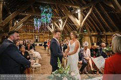 documentary wedding photography of civil wedding ceremony in the main barn at gildings barns in newdigate, a rustic countryside authentic romantic wedding venue in surrey with fairy lights Wedding Venues Surrey, Hotel Wedding Venues, Barn Wedding Venue, Wedding Ceremony, Wedding Photography Styles, Documentary Wedding Photography, Wedding Entourage, Dance Floor Wedding, Civil Wedding