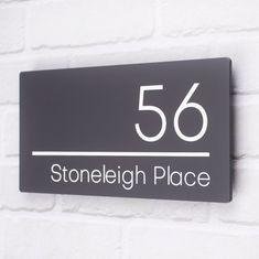Led House Numbers, House Number Plates, Door Numbers, Door Number Plaques, House Names, Floating House, Modern Door, Door Signs, House Signs