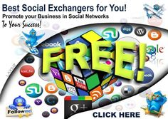 Best of the best * SOCIAL EXCHANGES * ALL FREE! Need follows? Likes? Shares? And much more? JOIN NOW! > http://networkerhot.blogspot.com