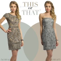 Camille La Vie Short Neutral Cocktail Dresses with sexy elegance