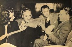 james cagney with ingrid bergman, ronald colman, and robert young at the memorial broadcast for roosevelt 1945