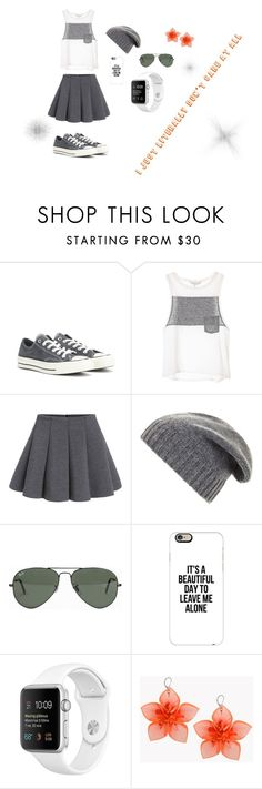 """""""Untitled #39"""" by runnerkyla on Polyvore featuring Converse, BCBGMAXAZRIA, Ray-Ban, Casetify and Dsquared2"""