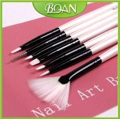 New Design Nail Brush 7 pcs Set Beauty Nail Art Brushes For Nails  free shipping