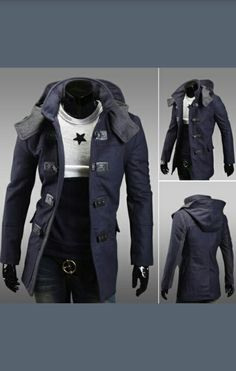 Zackate Mens Slim Fit Jacket Long Trench Retro Style Overcoat Jacket Vintage Design Casual Coat Outwear Blouse