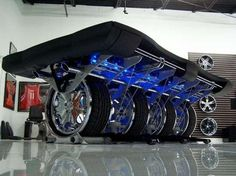 100 Man-Cave Must Haves - Illuminated Tire Pool Table