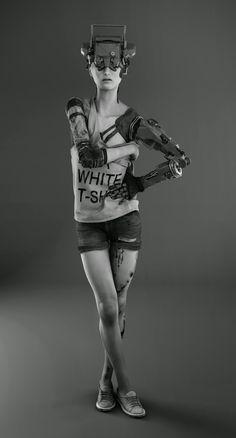 cyberpunk girl by mattia munafò | Sci-Fi | 3D | CGSociety