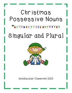 This center includes 2 posters: 1 Possessive Singular Noun Poster and 1 Possessive Plural Noun Poster and 12 visual Christmas themed cards. Student's write the singular or possessive phrase on a dry erase board and add an apostrophe in the proper place.