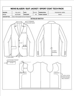 Fashion Apparel Tech Pack Templates - My Practical Skills | My Practical Skills