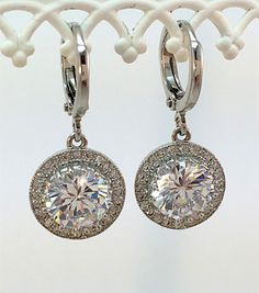 New Simulated CZ Solitaire Pendant Dangle by HisJewelsCreations