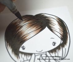Splendid Stamping with The Greeting Farm: Hair Coloring Tutorial by Rosie!