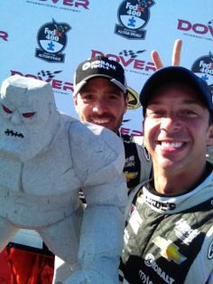 #VictorySelfie Chad Knaus. Jimmie Johnson