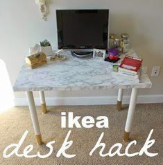 Easy-Peasy Desk DIY | Something Good Desk Top Ideas, Diy Bedroom Decor, Diy Home Decor, Bedroom Ideas, Bedroom Inspo, Diy Kallax, Desk Hacks, Ikea Hacks, Closet Ikea