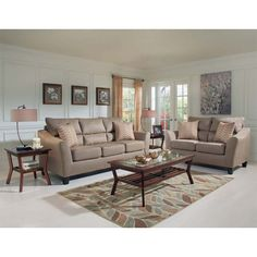 Woodhaven Ritz Collection includes: sofa, ottoman, coffee table, 2 ...