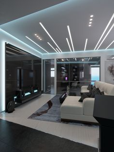 Nadire Atas on Bella Casa Design Interior Ceiling Design, House Ceiling Design, Ceiling Design Living Room, Bedroom False Ceiling Design, Ceiling Light Design, Home Ceiling, Home Room Design, Living Room Designs, Flur Design