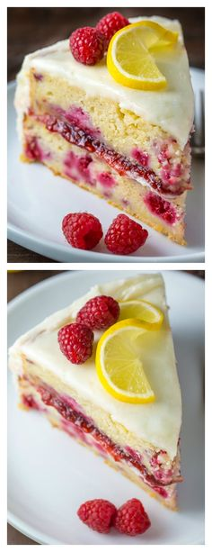 Raspberry Cake - The BEST Lemon Raspberry Cake Recipe If you like lemons and raspberries you're going to LOVE this Lemon Raspberry Cake!If you like lemons and raspberries you're going to LOVE this Lemon Raspberry Cake! Just Desserts, Delicious Desserts, Dessert Recipes, Yummy Food, Easter Recipes, Gourmet Desserts, Recipes Dinner, Gourmet Cakes, Dessert Food