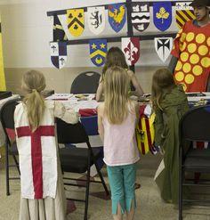 Heraldry via Belle & York www.belleandyork.com  #knight #armor #armour #chivalry #sword #medieval #yeg #heraldry #kids #stgeorge