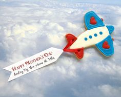 Biplane  cookie with banner