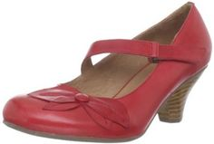 """Miz Mooz Women's Petal Pump Miz Mooz. $65.07. leather. Antiqued leather upper looks great with a petal design and asymmetrical strap. Rubber sole. 2 1/2-inch heel height; Leather upper, upper lining and sockliner, foam footbed, EVA midsole, rubber outsole. Stacked heel gives you a moderate lift. Leather lining feels soft against the skin. Heel measures approximately 2"""". Rubber outsole provides durability and traction for a confident stride; Hook-and-loop closu..."""