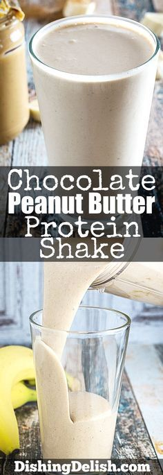 shake to lose weight recipes Chocolate Peanut Butter Protein Shake is smooth and indulgent. Creamy peanut butter, sweet honey, bananas, and chocolate protein powder blended with cinnamon and vanilla will make this your new favorite breakfast! Protein Smoothies, Protein Shake Diet, Protein Powder Shakes, Protein Powder Recipes, Protein Shake Recipes, Protein Snacks, Smoothie With Protein Powder, High Protein, Protein Shake With Coffee