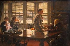 James Tissot, Suite de l'enfant prodigue : le départ, vers 1880, Musée des Beaux-Arts de Nantes
